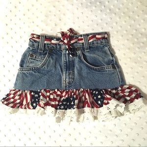 4th of July Jean skirt